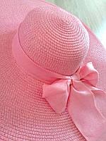 """Женская шляпа с бантом """"Иветти"""" розовый"""