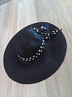 """Пляжная шляпа """"Лилу"""" черный"""