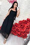 Женский стильный сарафан-миди с декором цветы (2 цвета), фото 2