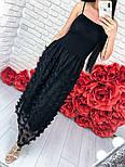 Женский стильный сарафан-миди с декором цветы (2 цвета), фото 4