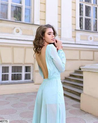 Нарядное платье макси подклад платья в виде комбинезона, талия фиксируется  серебристым канатиком тиффани, фото 2