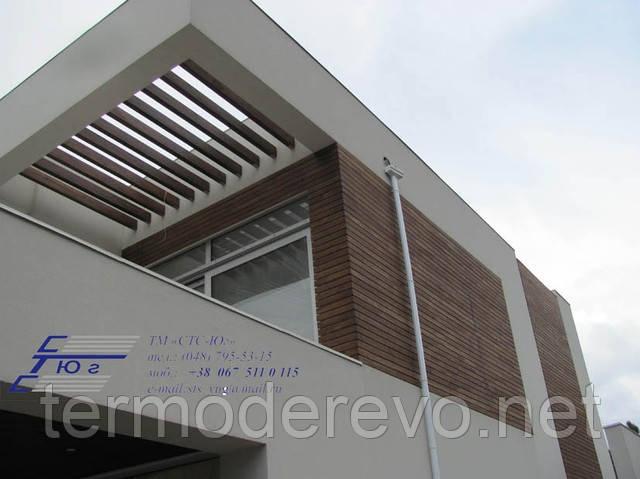 Отделка и монтаж фасадов из термодерева