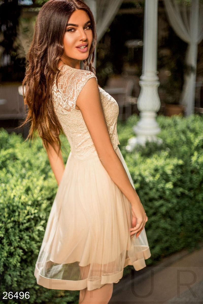 Женское фатиновое платье