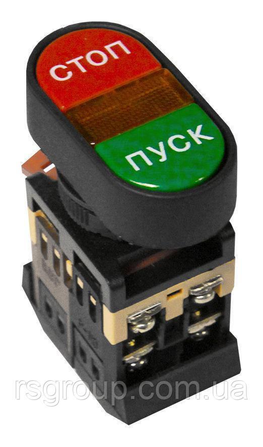 Кнопка двойная APBB-22N с подсветкой