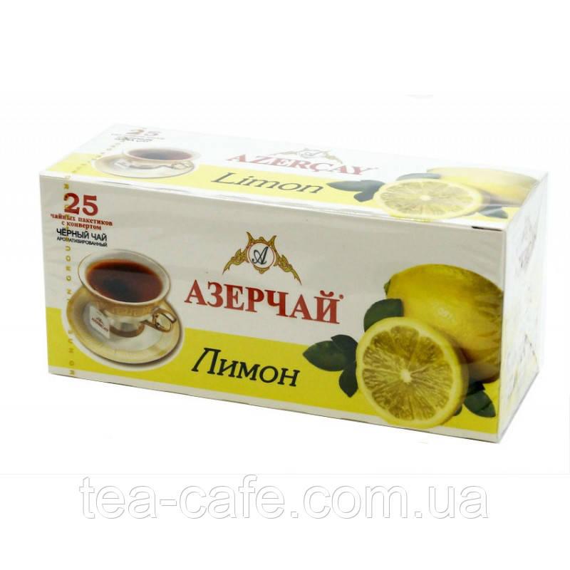 """Чай чорний Азерчай """"Лимон"""", 25 пак."""