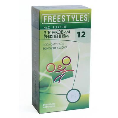 Презервативы FREESTYLES №12 Max Pleasure точечные