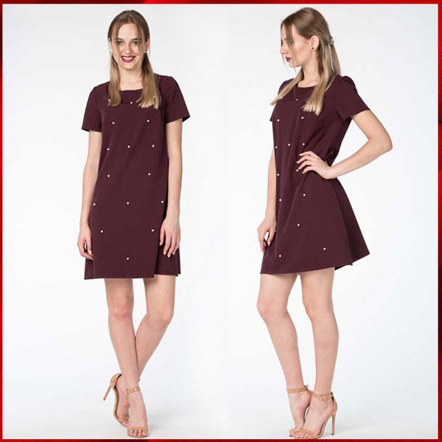 43b3a16ac1a0 Копия Летнее платье c жемчугом Эстэль, сливовый - Grand Fashion в Николаеве