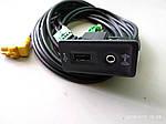Разъем фишка AUX—USB для Carplay в комплекте с проводкой для магнитол MIB 5Q0035726E 5G0035222E 5Q0035724, фото 2