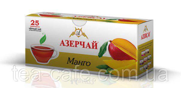 Чай чорний Азерчай Манго, 25 пак.