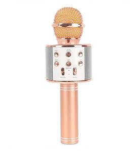 Беспроводной караоке микрофон-колонка 2 в 1, Wster WS-858(Микроф_WS-858)