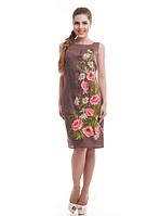 """Сукня лляна жіноча """"Ромашкове поле"""" розміри в наявності, фото 1"""