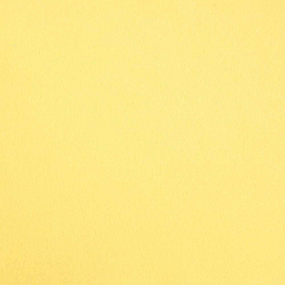 Фетр корейский мягкий 1.2 мм, 55x30 см, БЛЕДНО-ЖЕЛТЫЙ