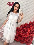 Женское легкое воздушное платье с жемчугом (3 цвета), фото 2