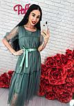 Женское легкое воздушное платье с жемчугом (3 цвета), фото 4