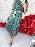 Женское легкое воздушное платье с жемчугом (3 цвета), фото 5