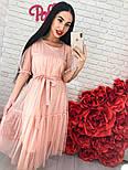 Женское легкое воздушное платье с жемчугом (3 цвета), фото 7