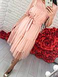Женское легкое воздушное платье с жемчугом (3 цвета), фото 8