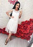 Женское легкое воздушное платье с жемчугом (3 цвета), фото 9