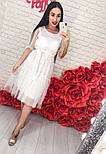 Женское легкое воздушное платье с жемчугом (3 цвета), фото 10