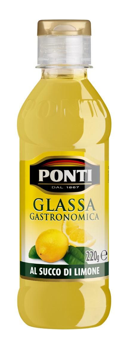 Соус-крем с лимонным соком Ponti Glassa Gastronomica, 220 гр.