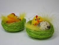 Пасхальные декоры, Курица в гнезде, 6 см, 2 шт, Пасхальные подарки