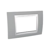 Рамка 3-мод. Unica Schneider Туманно-серый/Белый, MGU6.103.865