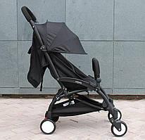 Yoya 175 A+ Black Черная Прогулочная детская коляска 2в1 (0-36 мес.) Алюминиевая