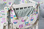 """""""Цветные совушки""""набор постельного для малыша, фото 3"""
