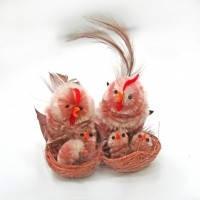 Пасхальный сувенир, Курица с цыплятами, 6 см, 2 шт, Пасхальные подарки, Днепропетровск