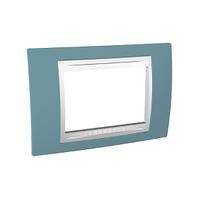 Рамка 3-мод. Unica Schneider Синий/Белый, MGU6.103.873