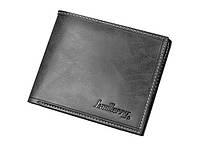 Мужской кошелек BAELLERRY Noble Mini кожаный портмоне Short Черный (SUN0575)