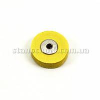 Круг муслиновый мини 22 мм желтый (К-41)