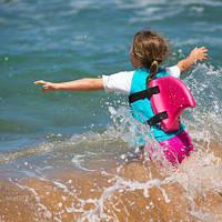 SwimFin плавник акулы, жилет для плаванья розовый