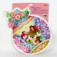 Пасхальный декор, Наклейка декоративная Кролики, Пасхальные сувениры, Днепропетровск