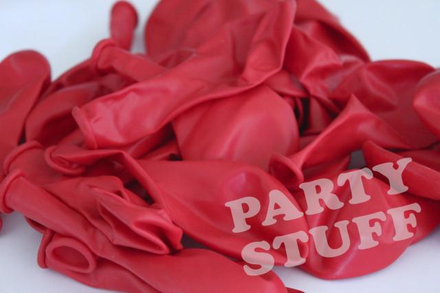 Воздушные шарики пастель красный