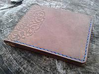Мужское кожаное портмоне ручной работы