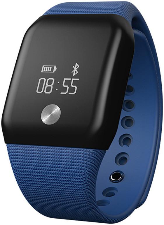 Умный Фитнес браслет A88+ синие в стиле Apple Водонепроницаемый с пульсометром и измерением  давления