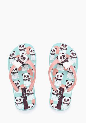 Оригинал Вьетнамки Детские для девочки 82400-22884 Ipanema  Pets Kids Green/Pink, фото 2