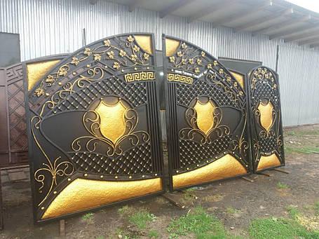 Ворота ковані  Чеканка, фото 2