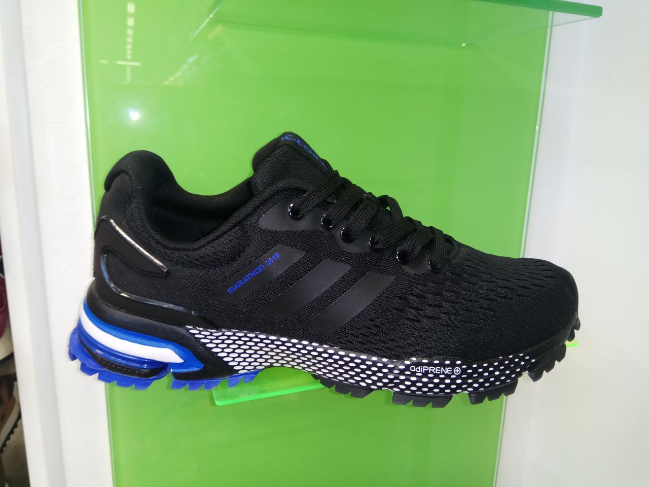 b72cc8fea032 Мужские кроссовки Adidas Marathon 2018 black blue - Интернет магазин  krossovkiweb.kiev.ua в