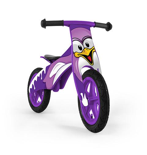 Беговел Milly Mally Duplo Фиолетовый пингвин (0236)
