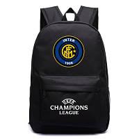 Рюкзак подростковый FC Inter футбольный клуб Интер черный, фото 1