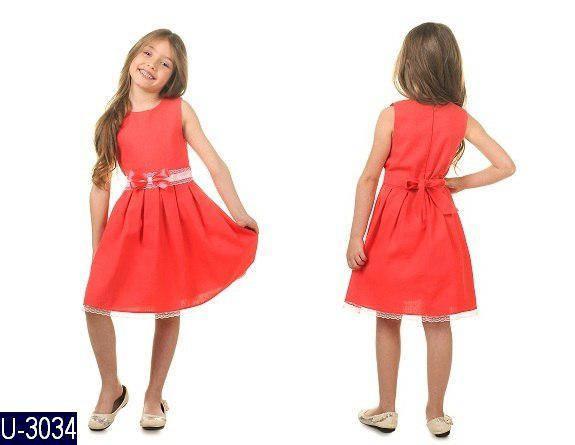 Летнее льняное платье для девочки