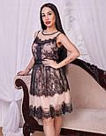 Женское платье из фатина с кружевом, фото 3
