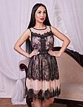 Женское платье из фатина с кружевом, фото 5