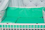 Сменное детское постельное белье в кроватку однотонное ярко-мятного цвета, фото 2