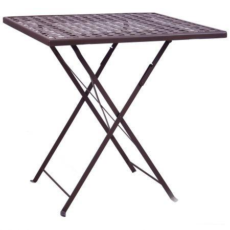 Металлический складной стол Бретань hy-t053 (сталь сетка тканная какао 8031), TM AMF