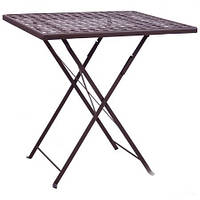 Стол для улицы складной Бретань hy-t053 (сталь сетка тканная какао 8031)