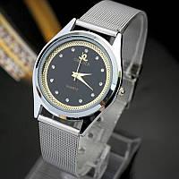 Роскошные часы серебро