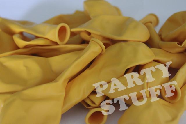 Шарики воздушные желтые пастель